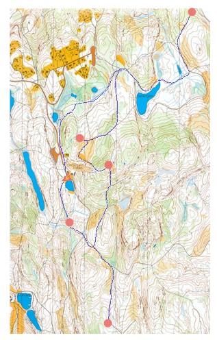 linderudkollen kart Ski RPO Linderudkollen, 010303