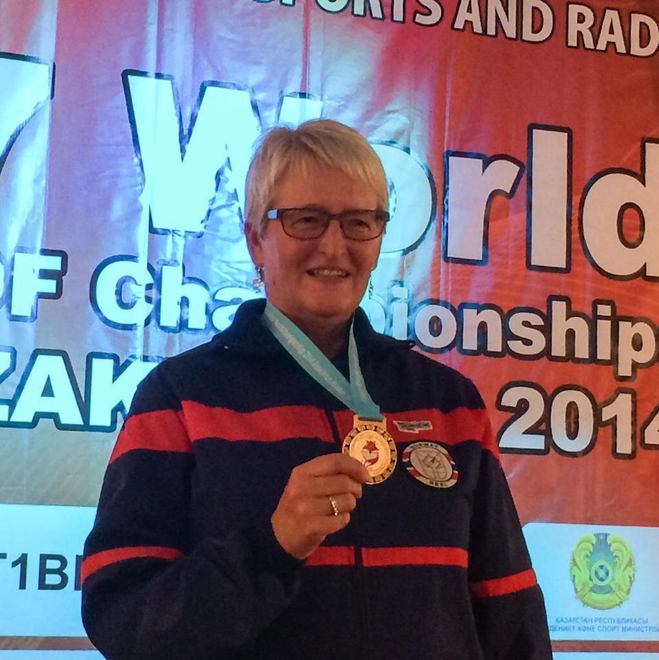 Gull til Karin Garpestad VM i Kazakstan 2014