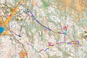 Kart med GPS spor Jon